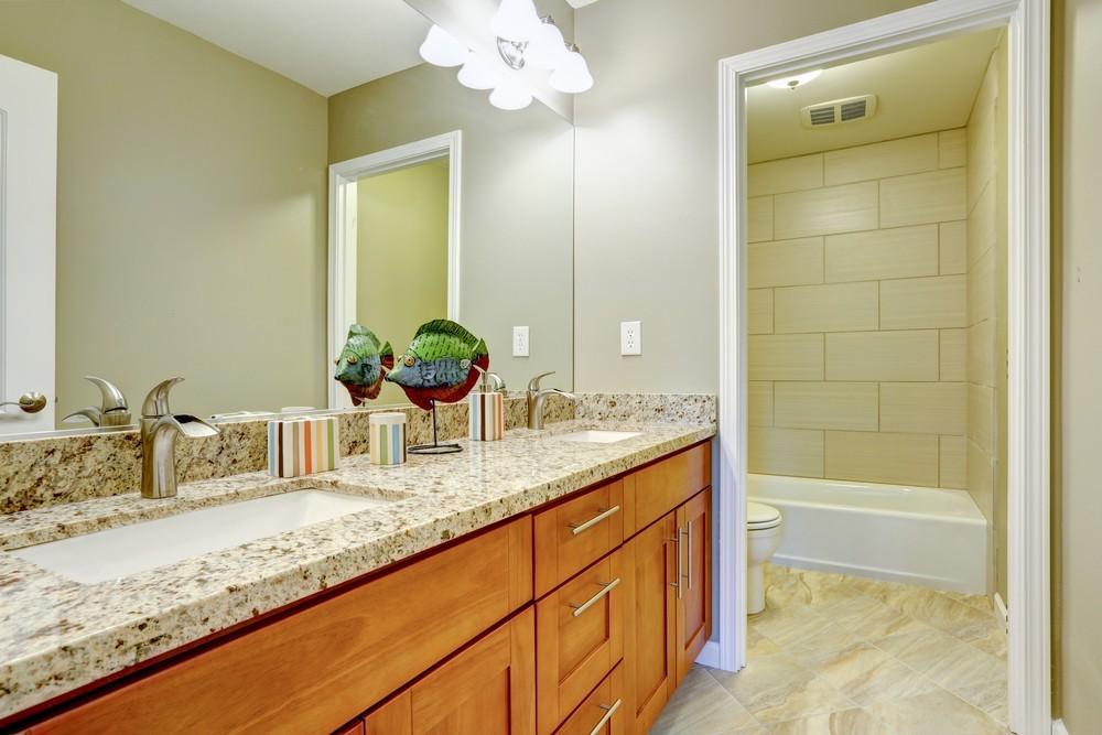 Small stone bathroom